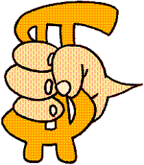 Holding Dollar Sign